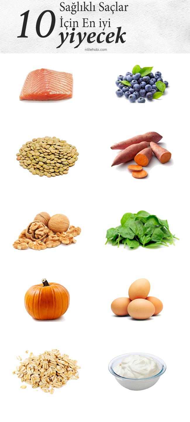 Sağlıklı Saçlar İçin En İyi 10 Yiyecek