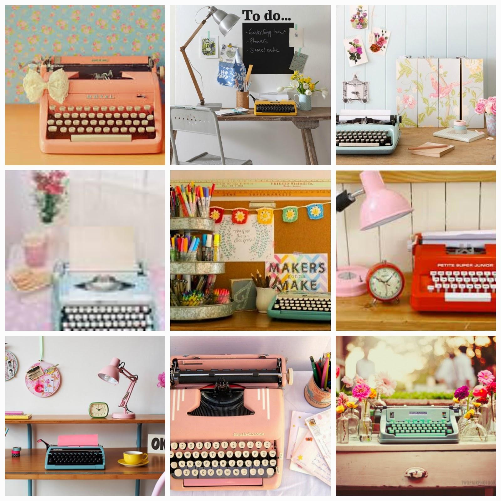 typewriters collage