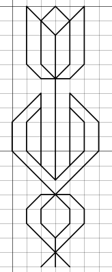 tulip free blackwork pattern