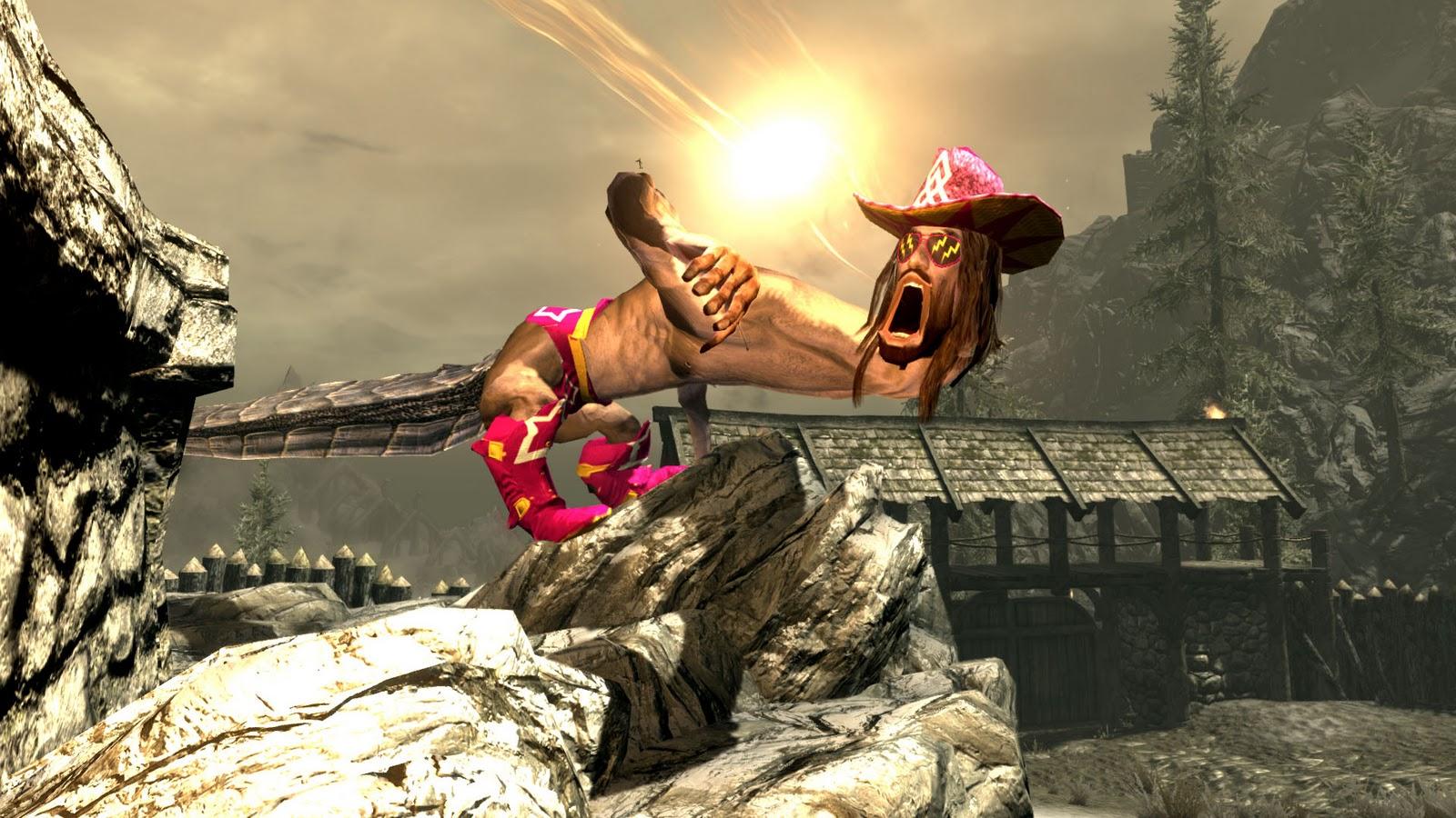 player one gaming macho man skyrim mod