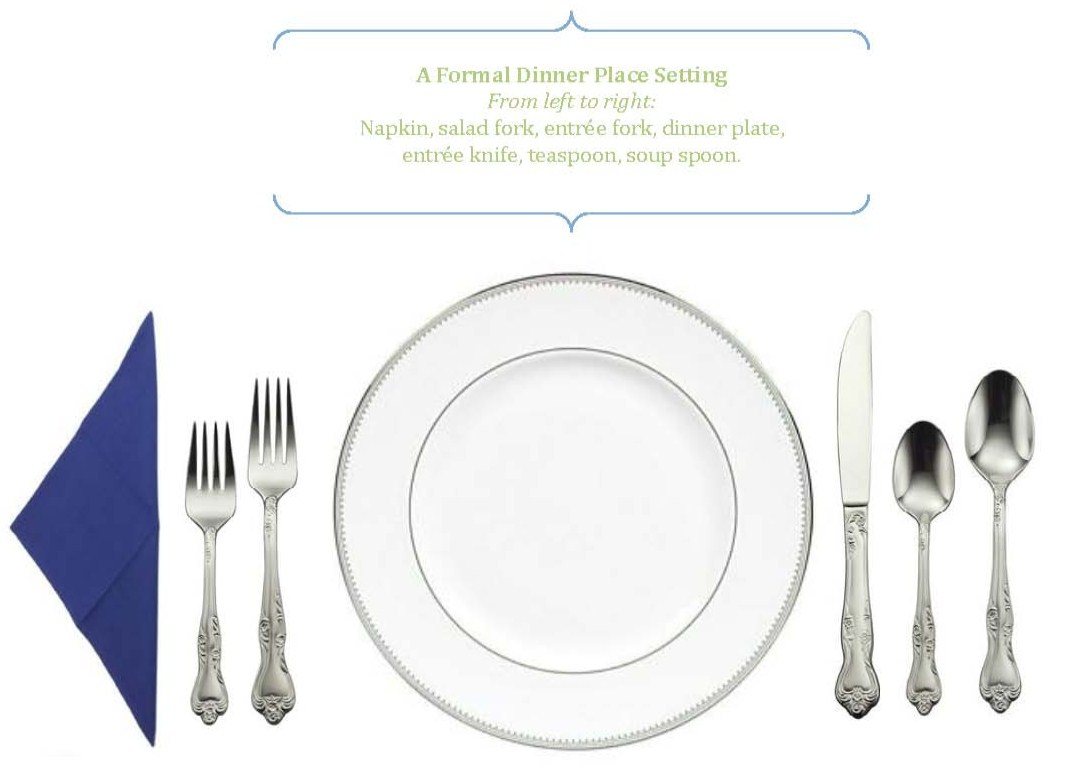 Formal dinner table setting etiquette - Dinner Party Etiquette From The 15 Minute Party Planner