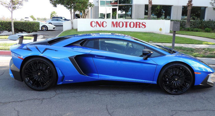 Bright Blue Lamborghini Aventador Sv Hits The Market In