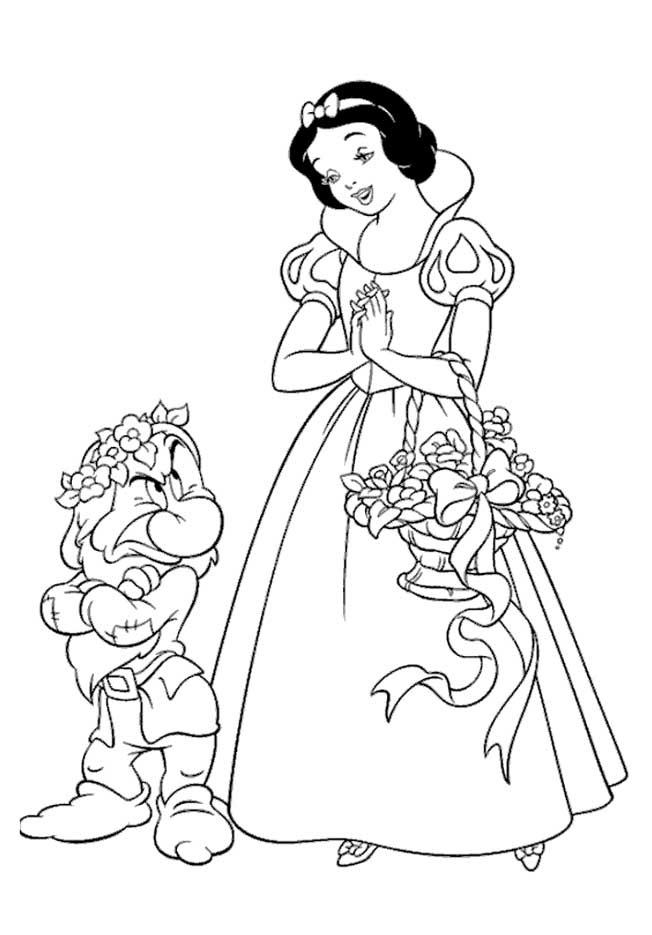 a desenhar Os Sete Anoes colorir