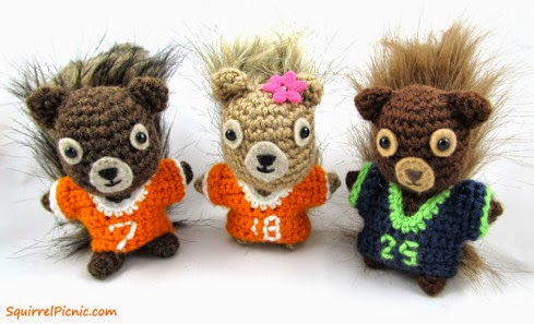 Free Crochet Pattern - Butters da' Squirrel from the Toys