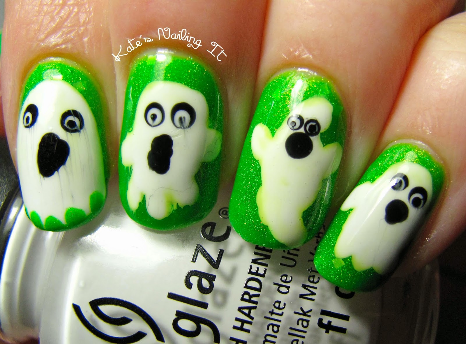 Kates nailing it laidback polish lovers october nail art i used a lot of different nail art tutorials as inspiration for my ghost shapes including ones by naileditnz sarabeautycorner and beautifulyoutv prinsesfo Image collections