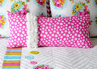 RUFFLED ROSES PILLOW