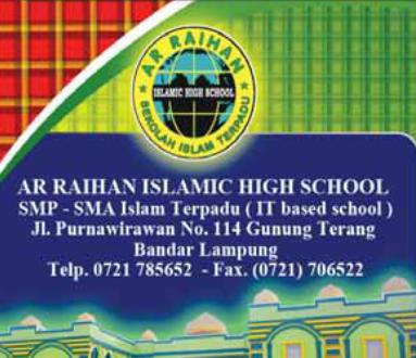 Lowongan Guru Sekolah Islam Terpadu Ar Raihan Bandar Lampung
