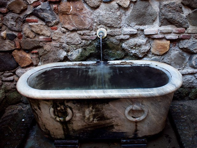 Bathtub fountain at Alcazaba. Photo: Silvia. Unauthorized use is prohibited.