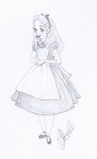 Disney Illustration Study: Alice in Wonderland