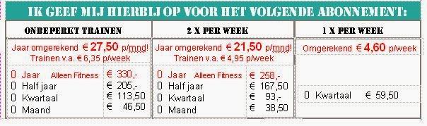 Al voor 19,90 per maand sporten! en 21.50 voor 2x per week!