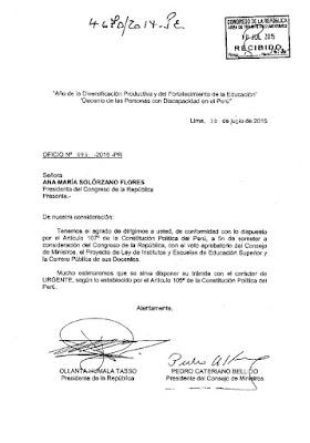 Oficio URGENTE Ley Institutos