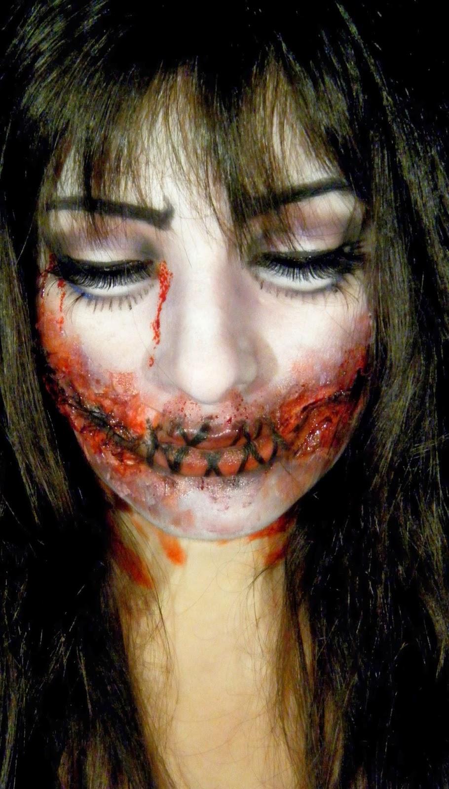 Mon petit coin beaut maquillage halloween 3 creepy doll - Maquillage halloween cicatrice ...
