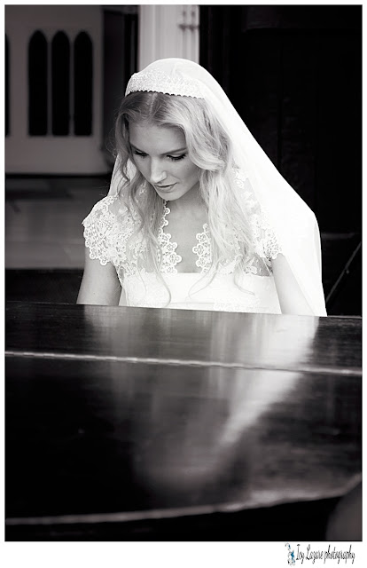 bride playing piano
