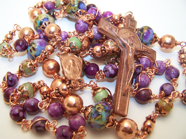 New! The Copper Collection! Rosary Of Saint Benedict