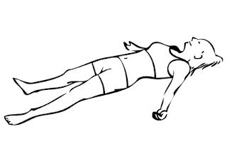 Postura del cadaver o savasana