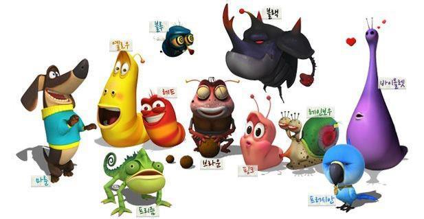 Todos los personajes de Larva la serie coreana de animación
