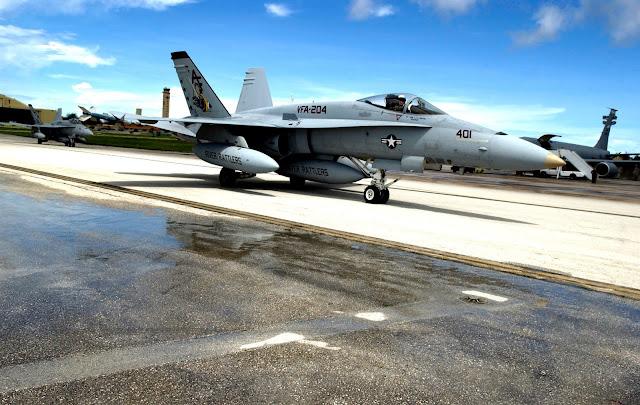 F-18 Hornet sideview.