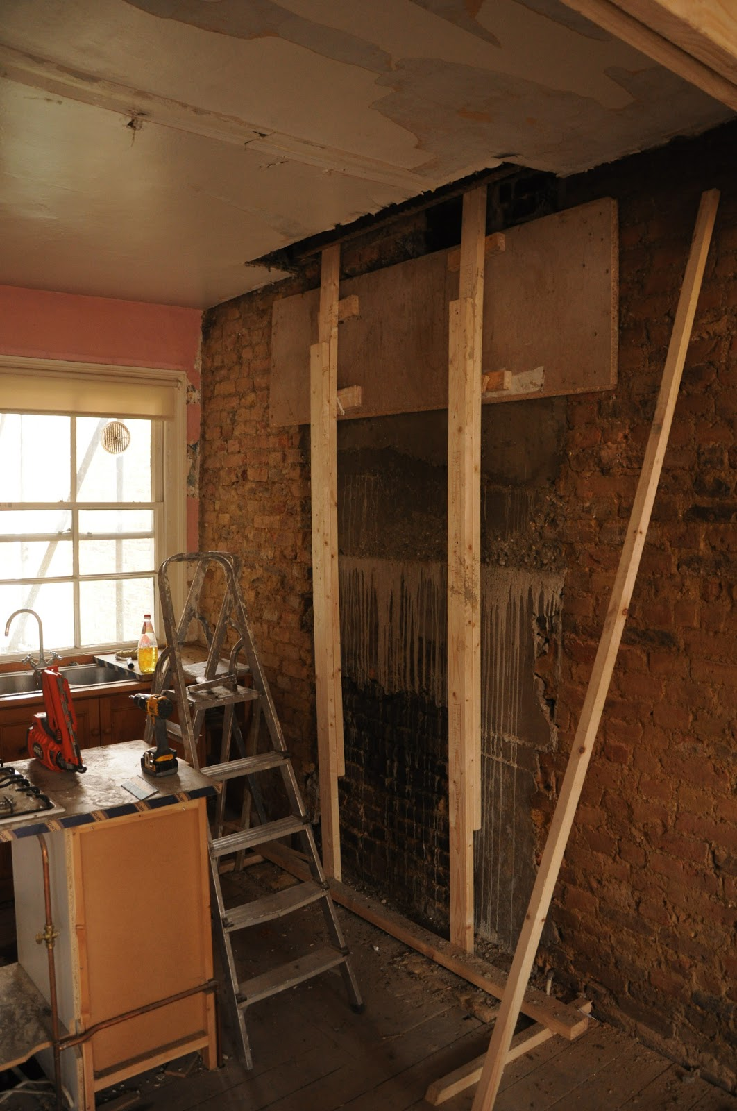How to remove a chimney - The Removed Kitchen Chimney Breast Filled In