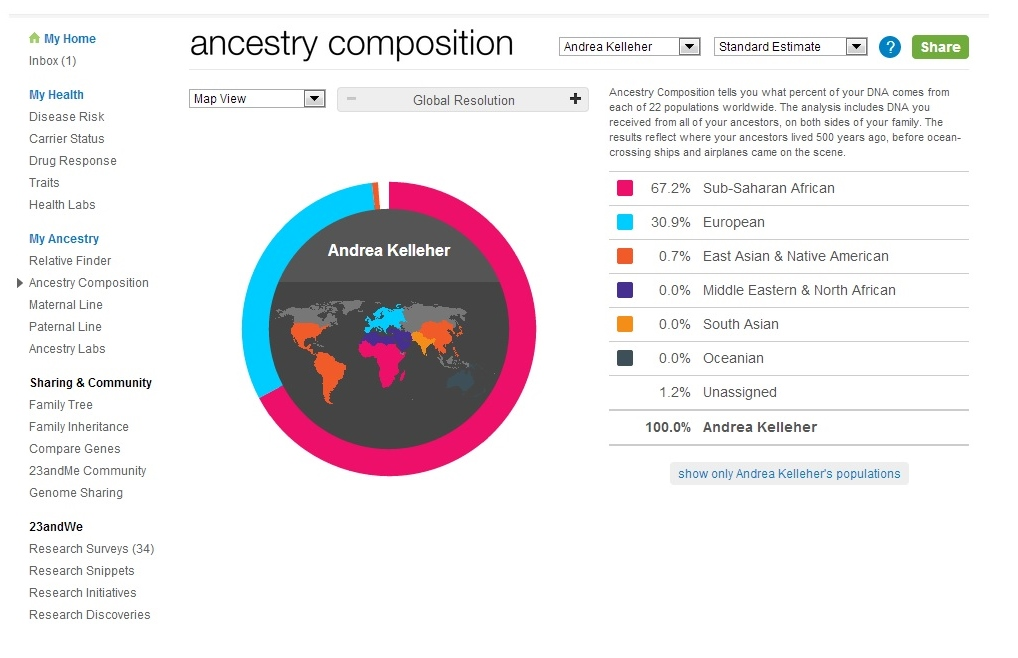 How Did I Get Here? My Amazing Genealogy Journey: My 23andMe Results!