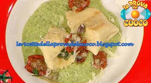 rtelloni al ragusano e pomodori secchi con crema di broccoli e pistacchi ricetta Prova del Cuoco