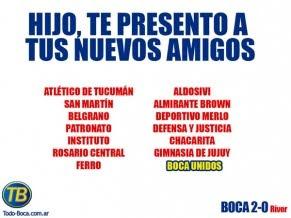 burlas por el descenso de River Plate