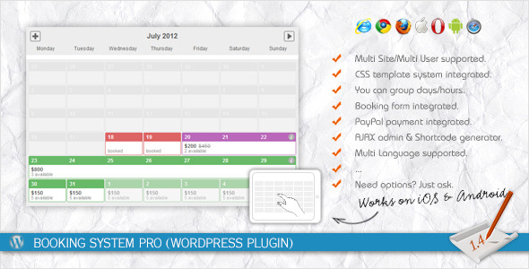 CodeCanyon - Booking System PRO (WordPress Plugin)