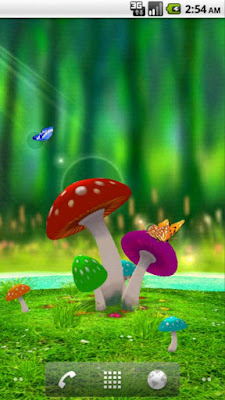 3d mushroom garden live wallpaper download