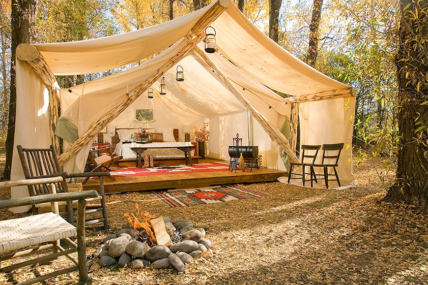 If Its Hip, Its Here (Archives): Glamping. Forget Roughing It, Camp...