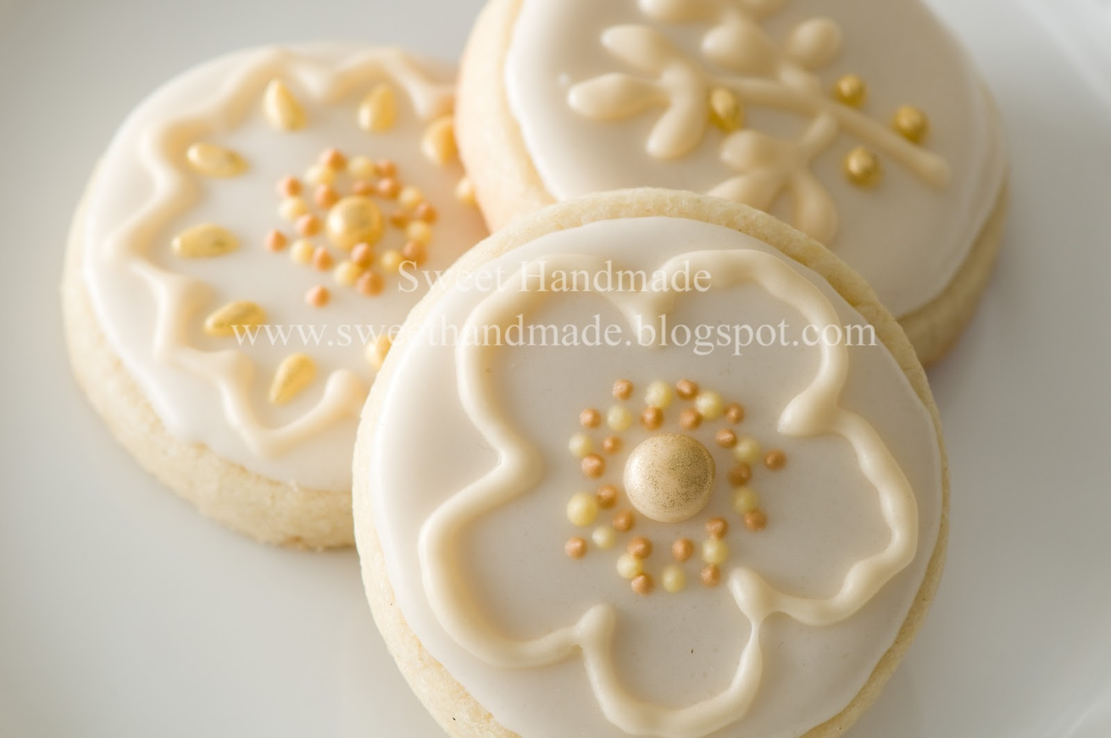 Sweet Handmade Cookies: Wedding Reception Cake & Cookies