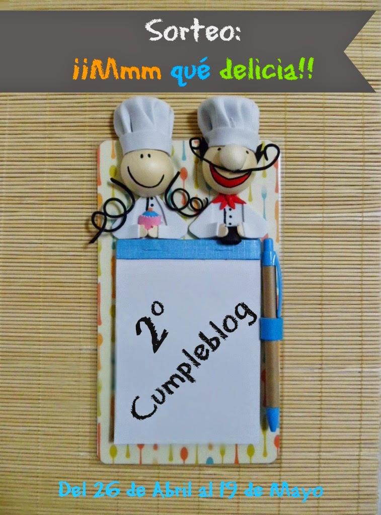 2º Cumple blog de ¡Mmm qué delicia!