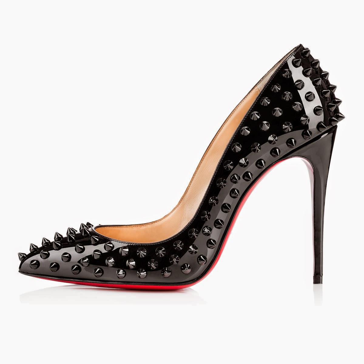 louboutin scarpe con borchie
