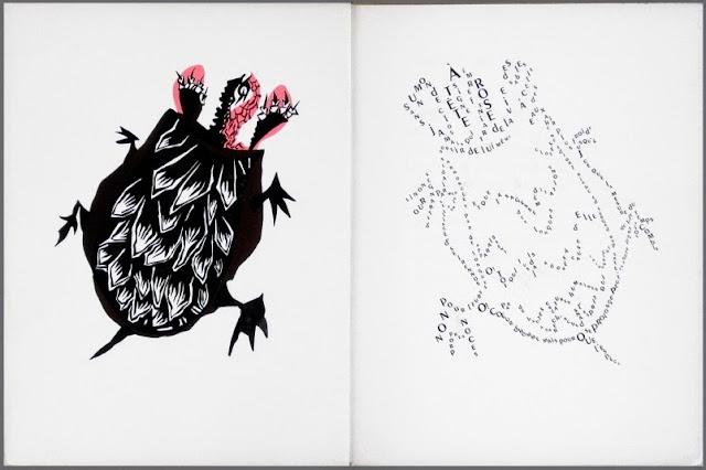 Jean Lurçat bestiary gouache + lithograph