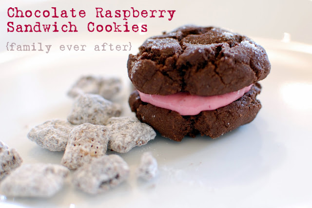 Family Ever After....: Eggless Chocolate Raspberry Sandwich Cookies
