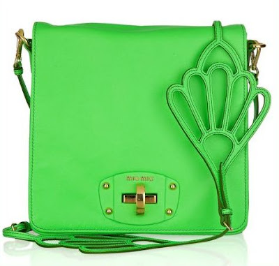 Miu Miu Fluorescent Green Shoulder Bag