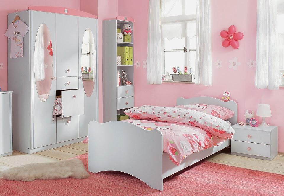 Dormitorio para ni as en color rosa dormitorios colores - Habitacion pequena nina ...