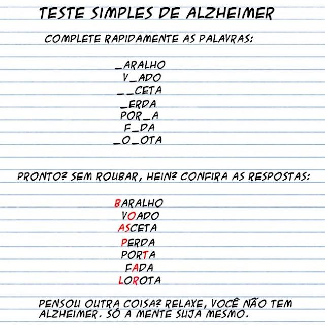 Teste de Alzheimer