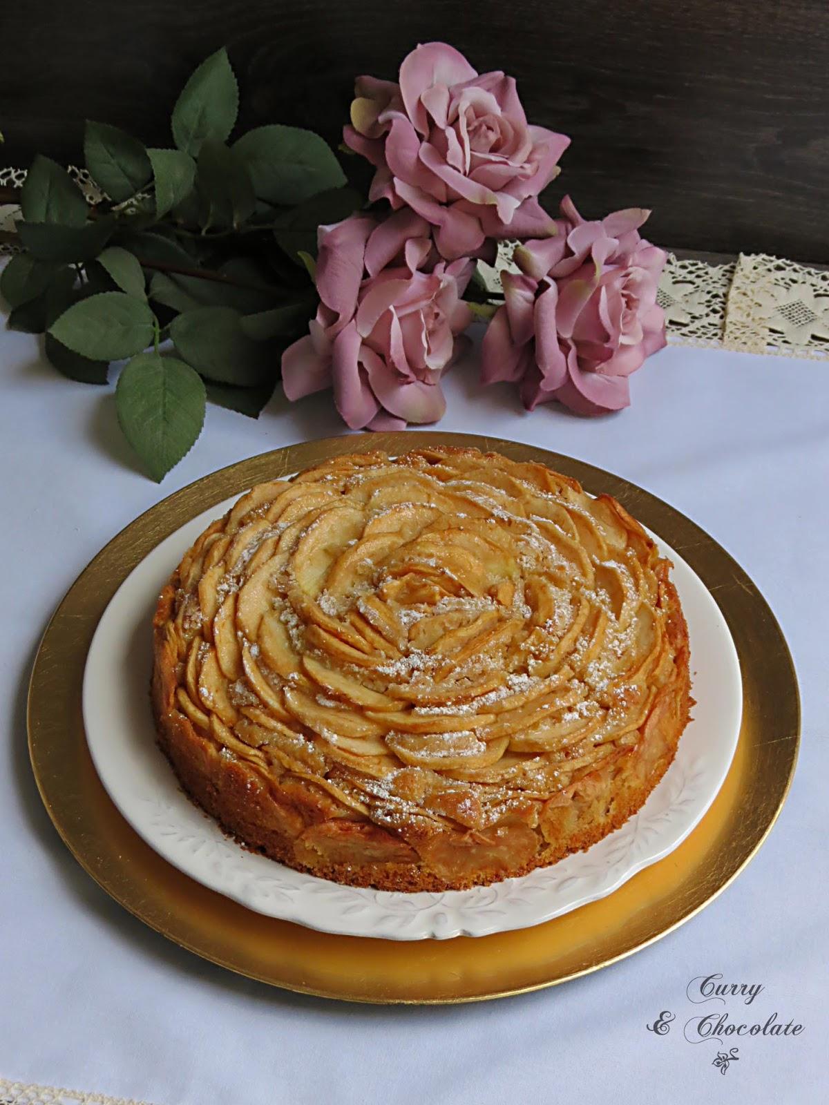 Bizcocho rosa de manzana – Rose apple cake