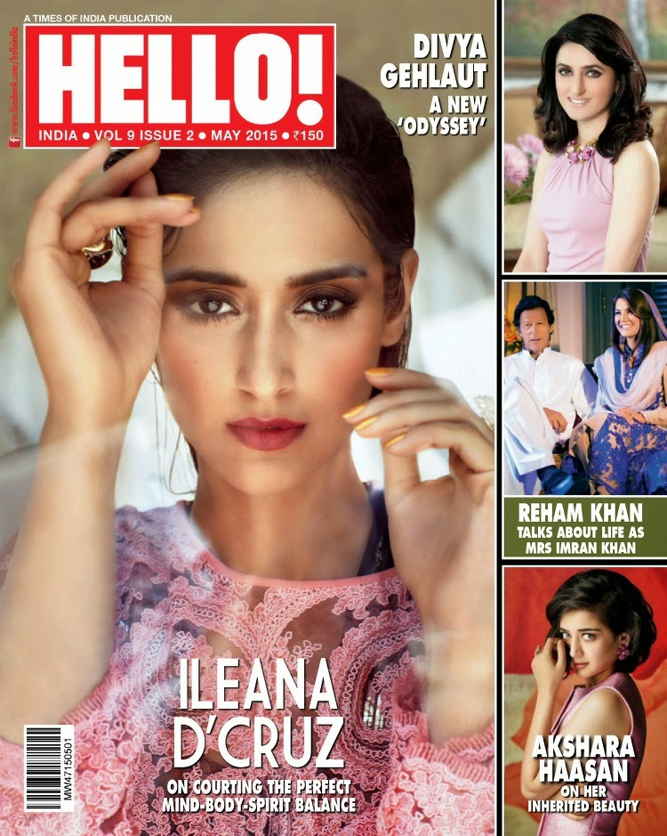 Actress, Model @ Ileana D'Cruz - HELLO! India, May 2015
