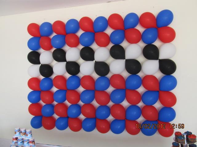 Cars decoracion fiestas infantiles fiestas infantiles y for Decoracion para pared con globos