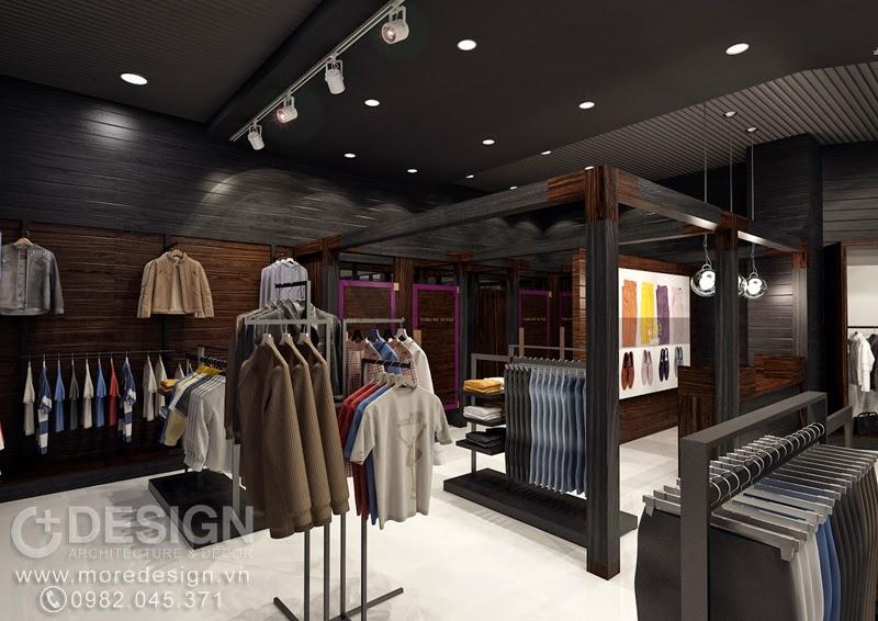 Thiết kế nội thất shop thời trang nam Time of Style