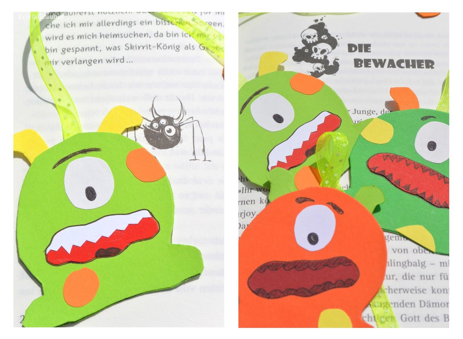 Kristallzauber: {DIY} Die Bewacher Monster Lesezeichen und mini Rezi ...