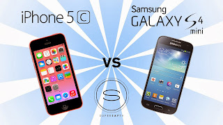 iPhone 5c vs Samsung Galaxy S4 mini, Samsung Galaxy S4 Mini, HDR feature, panorama mode, Jelly Bean 4.2, Android, Snapdragon processor, dual core, new samsung, new smartphone, GPS