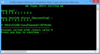sorting c++, descending