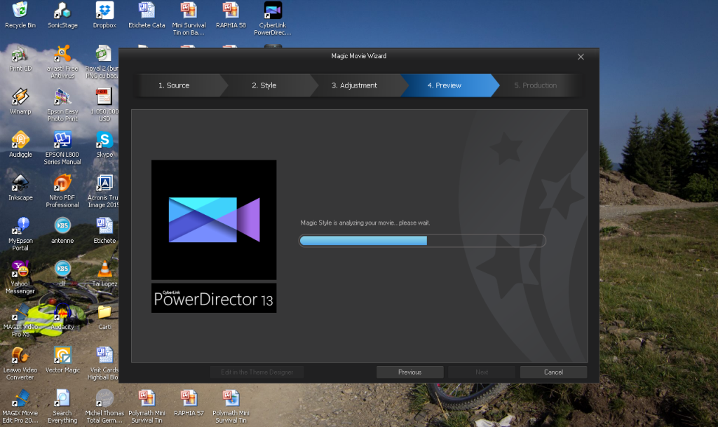 Power Director Compiling Video