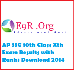 AP Class 10th, SSC Grades and Ranks 2014 Results Download