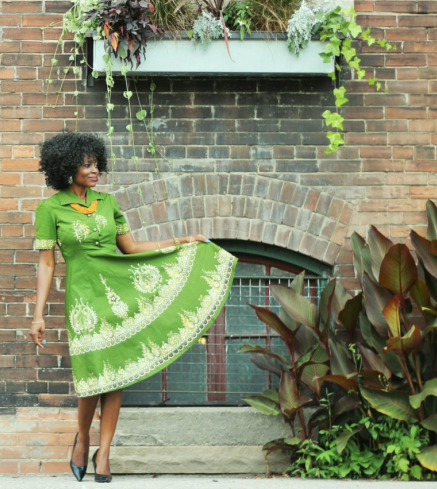 Sari x African inspired midi dress