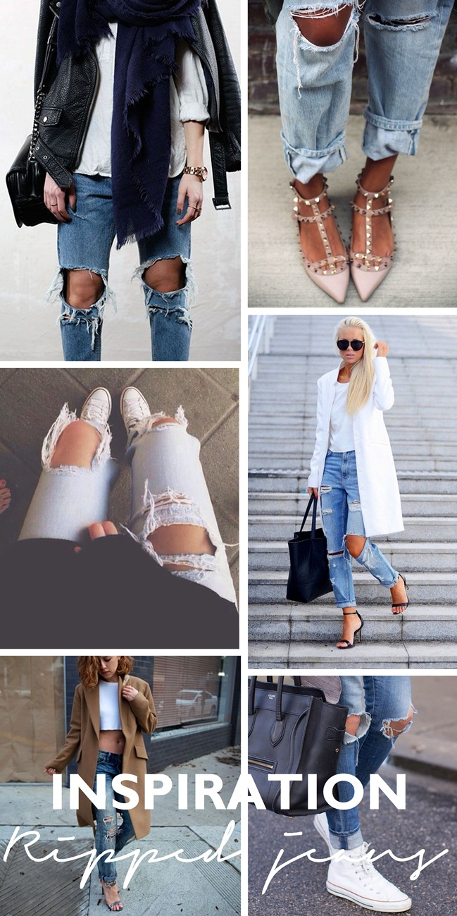 inspirational board, fashion inspiration, fashion trends, ripped jeans, ripped knees, style blogger, fashion blogger, victoria tornegren, karlas closet, ripped boyfriend jeans inspiration outfit