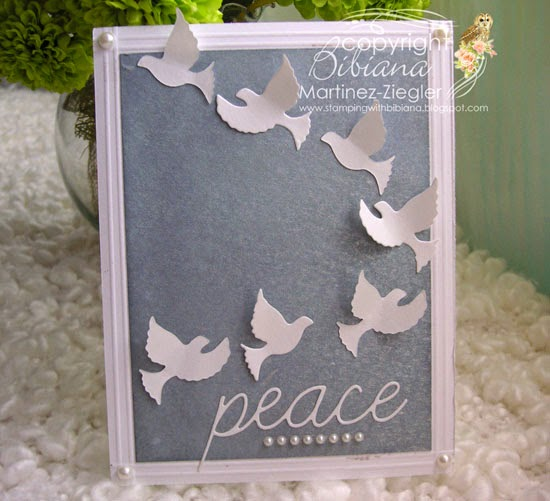 CAS card Peace Doves