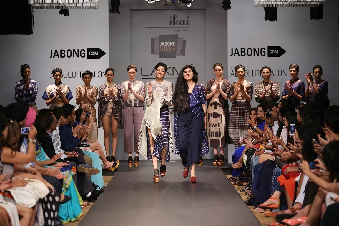 Ragini Ahuja under her label 'Ikai' showcased an enchanting collection at Jabong Stage during Lakmé Fashion Week Summer/Resort 2014. The designer worked with contemporary, unconventional silhouettes and blended them with Indian aesthetics and cultural influences.