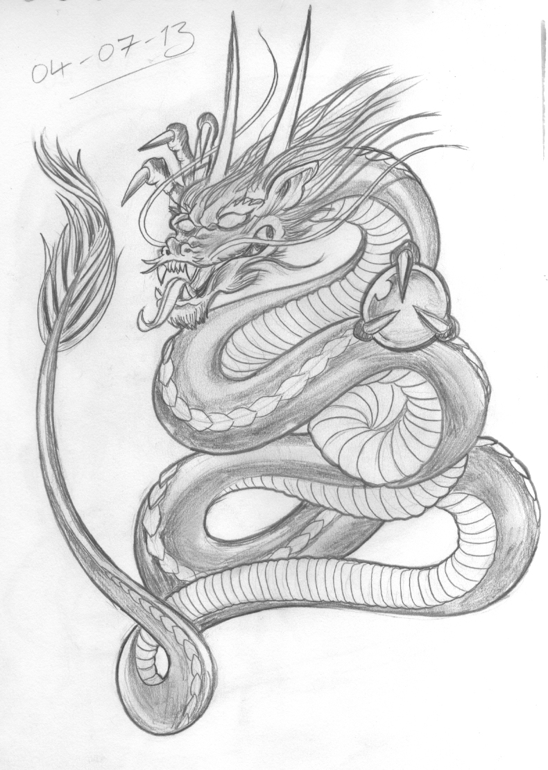 Welsh dragon tattoo designs - Dragon Tattoo Design I M A Lot Happier With This Effort It S Got A Much Better Flow About It